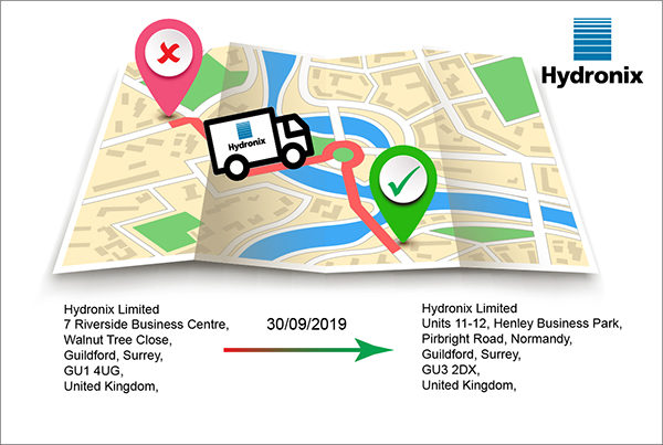 Hydronix has moved to Henley Business Park in Normandy, Surrey