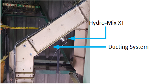 Hydronix Hydro-Mix XT and Ducting System installed